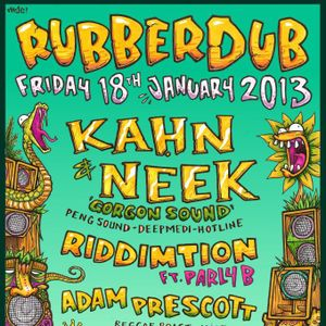 Riddimtion Ft Parly B Live at Rubberdub 18/01/13
