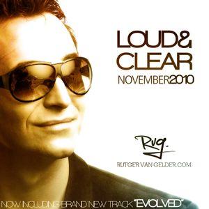 Rutger van Gelder - Loud N Clear (November 2010 Livemix)