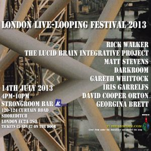 Resonance FM Clearspot July 11th London Live-looping Festival intro.