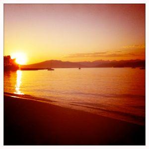 Sunset on Kits Beach