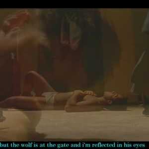 but the wolf is at the gate and i'm reflected in his eyes
