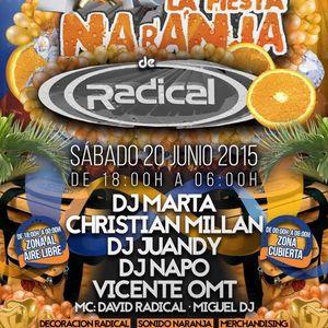 Napo @ Radical, Fiesta Naranja, Sala Dubai, Toledo (2015)