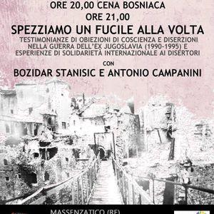 Serata antimilitarista con Bozidar Stanisic 08/11/2013 - Circolo Arci Cucine del Popolo Massenzatico