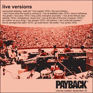 PAYBACK Vol 16 December 2003