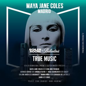 Boiler Room Madrid  Maya Jane Coles