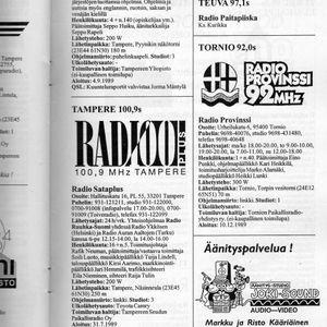 Radio Sataplus, Petri Kaivanto Show, 7th of February, 1994, part 1.