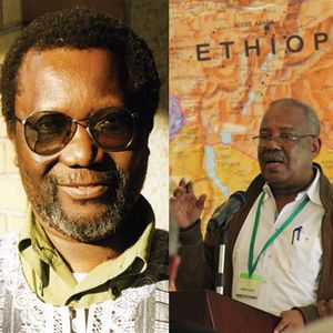 Jack Mapanje and Dr Adan Abokor in conversation