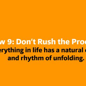 Law 9: Don't Rush The Process 03.03.18 Baptiste Power Yoga