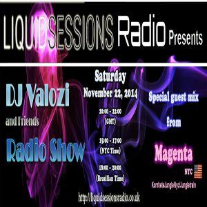 DJ Valozi and DJ Magenta @ Liquid Sessions Radio UK - November, 22th 2014