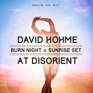 david hohme - Sunrise Set @ Disorient, Burning Man 2013
