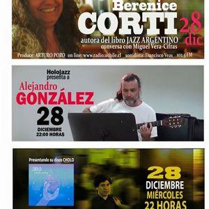 Audio HoloJazz. Álvaro Zavala, Berenice Corti y Alejandro González