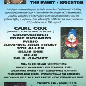 Dr S Gachet , MC Flux. Passion Allnighter, The Event, Brighton, 18th Sep 1992