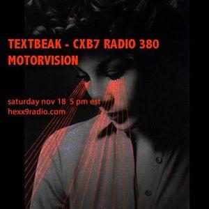 TEXTBEAK - CXB7 RADIO #380 MOTORVISION