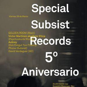 Fon @ Miniclub 5º Aniversario Subsist Records (28.3.14)