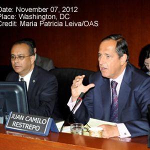 Ministro Juan Camilo Restrepo, Consejo Permanente OEA