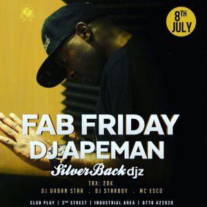 FabFridays 8th July 2016 set one - Dj Apeman ( live mix ) @clubPlay