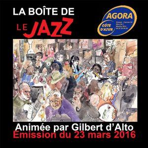 La Boîte de Jazz du 23 mars 2016