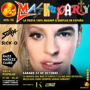 MashuParty #55 - DJ Surda & Playskull DJ (MashCat Team) - PopBar Razzmatazz (2016/10/22)