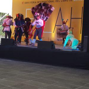 Primer día de actividades de la FILAH. Danza Calalá y Gastronomia de chiapas