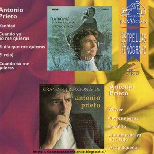 Las Estrellas del Fonógrafo: Antonio Prieto. CDC 743213227627. BMG. 1995. México