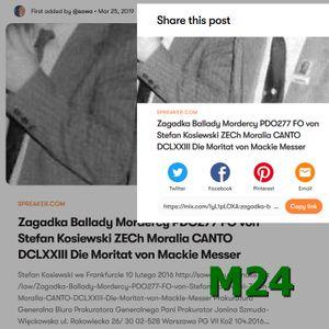 M24 Zamienie Wawel na Powazki PDO277 Zagadka ballady mordercy PDO278 Ekspulsja z Wawelu PDO657