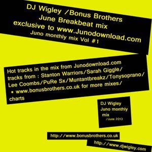 DJ Wigley June: Vol 1  Juno Breakbeat Mix