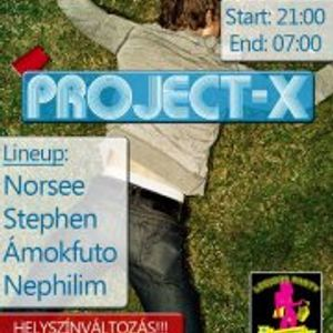 Stephen, Ámokfuto, Norsee @ Project-X Party 12.08.18.