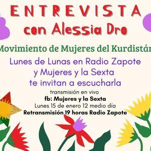 Lunes de Lunas    Entrevista con Alessia Dro   Movimiento de Mujeres del Kurdistán