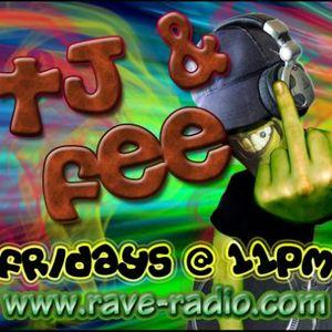 TJ Wombat n Fee Live set on www.rave-radio.com 25-10-12