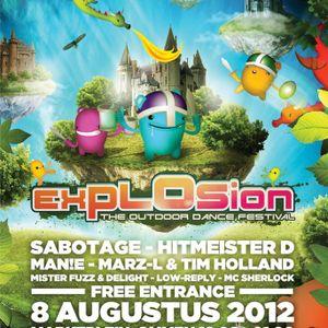 Hitmeister D LIVE @ Explosion Festival 2012 ft. MC Sherlock
