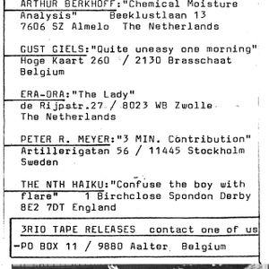 International Audio Compilation 2 side 1 - 3RIOTAPES 1983