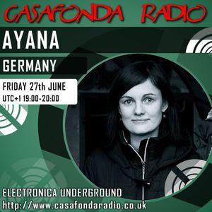 AYANA // GERMANY // CHANNEL RECORDINGS & IELEKTRONIX SHOWCASE 27/06/2014 19:00