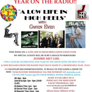 A LOW LIFE IN HIGH HEELS WITH GWEN EVER RADIO SHOW 7TH MARCH