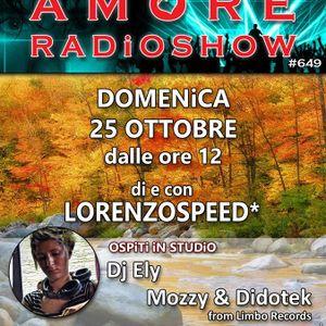 LORENZOSPEED presents AMORE Radio Show 649 Domenica 25 Ottobre 2015 with MOZZY and DiDOTEK part 2 pw