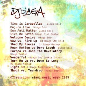 DJ DIAGA  - 22 SESSIONS - MIAMI MUSIC WEEK 2019