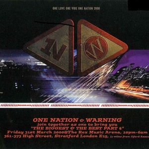 DJ Hype One Nation & Warning 'The Biggest & The Best Part 4' 31st March 2000