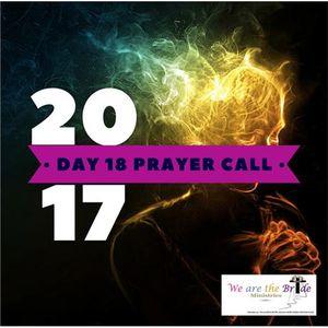 LIVE BROADCAST - Day 18 Prayer Call with Prayer Team