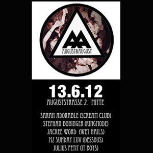 LiveDJSetRecorded 06/12: AA@August II, Berlin