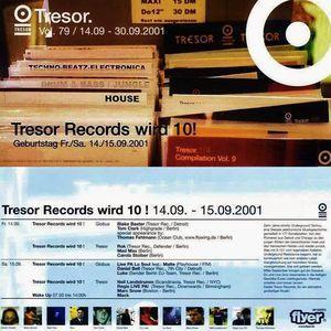 Marc Snow @ Tresor Records wird 10! - Tresor Berlin - 15.09.2001 - Part 1