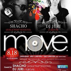 2012/08/18 M.O.V.E.@ACID ROOM DJ MASAHIRO 3.84 LIVE MIX
