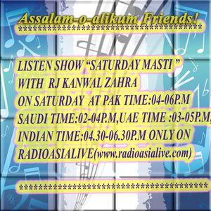 **Saturday Masti With Rj Kanwal(Month September)