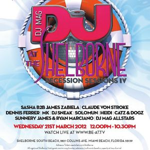 Sasha b2b James Zabiela - Djmag Recession Sessions Iive at Shelborne South Beach (21-03-2012)