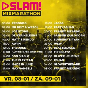 Martin Dhamen & Mick Roxx @SLAM! Mixmarathon 06-01-2015