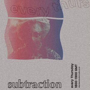 Subtraction w/ Ritchie Muir   12h Oct 2017