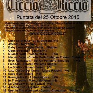 Riccio Col Top 25 Ottobre 2015