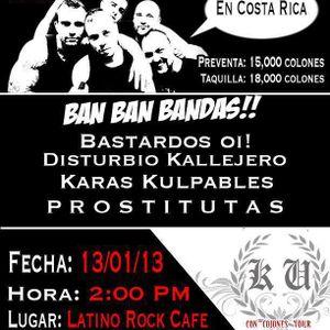 2013-01-13 7:57 00´ Kaos Urbano @ San José, Costa Rica - Con Cojones Tour - Latino Rock Café