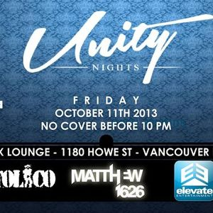 Live 2013.10.11 Unity Nights @ Lux