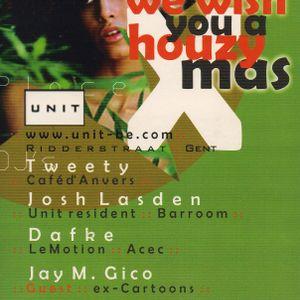 Club Unit, Houzy X-Mas (25/12/2001) Josh Lasden