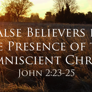 False Believers in the Presence of the Omniscient Christ - Audio