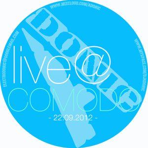 DJ Adonic [live] @ Comodo - 22.09.2012